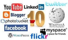 Social Media: Canada uses many different types of social media. Some of the most popular are Twitter, Facebook, YouTUbem and Linkedin. Canada uses most of the social media available in the U.S.  http://en.wikipedia.org/wiki/List_of_social_networking_websites
