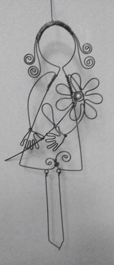 Wire wrapped little girl