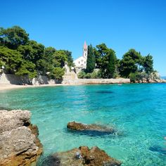 Dominican Monastery, Bol, Brac Island, Croatia. Only in Europe would you find a 'clothes optional' beach in front of a monastery.