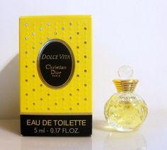 Vintage 1990s Dolce Vita by Christian Dior 0.17 oz Eau de Toilette Miniature Mini PERFUME