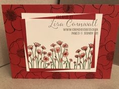 Painted Poppies is part of the Peaceful Poppies Suite. This group of gorgeous products feature on the entire front cover of the spring summer brochure. Poppy Images, Watercolor Pencils, Large Flowers, Just Do It, Vintage Looks, I Card, Poppies, Stampin Up, Crafting