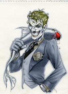 The Clown Prince of Crime by Richard Cox. Copic Markers
