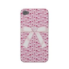 Cute pink flamingos, bow and heart jewel Wonderland iPhone 4 case! $37.05.  An adorable gift for teen girls and girls of all ages.
