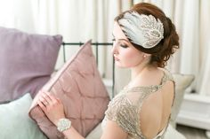 Victoria Millésime feather bridal accessories - treasured heirloom inspired headpieces for modern day brides.