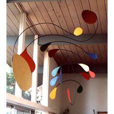 Calder hanging art, hanging mobile, hanging mobiles, art mobiles, mobile art, kinetic art Mobile Number 7