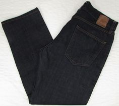 Men Gap 1969 Slim Jeans Mid Rise Dark Wash Resin Rinse sz 31 X 27 EUC #GAP #SlimSkinny
