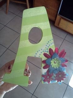 DIY wooden letter :) for volleyball little sister???