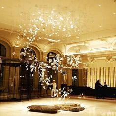 The Peninsula Hotel, Paris lobby.