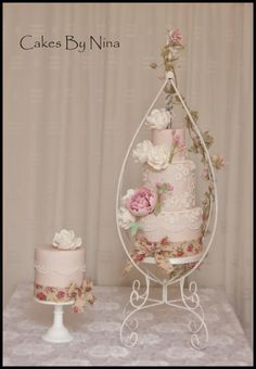 """""""Rosie"""" by Cakes by Nina Camberley - http://cakesdecor.com/cakes/225988-rosie"""