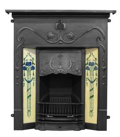 art deco fireplace. Sorry first pinner thought this was deco. It is very beautifully nouveau.