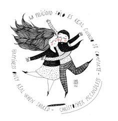 Couple Illustration, Portrait Illustration, Character Illustration, Monica Crema, Funny Cartoon Quotes, Cute Couple Art, Painting People, Vintage Comics, Cute Images