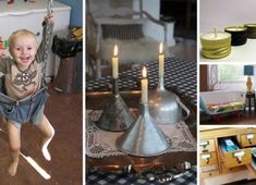 Vintage Make interesting candles from funnels - 26 Breathtaking DIY Vintage Decor Ideas - Love the idea of DIY but hate the actual effort it requires? Here are some creative ways to reuse the stuff you already own. Old Kitchen, Vintage Kitchen, Kitchen Stuff, Kitchen Items, Recycled Kitchen, Kitchen Utensils, Nice Kitchen, Diy Vintage, Vintage Metal