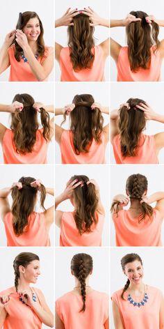 Easy Dutch inside out braid tutorial.