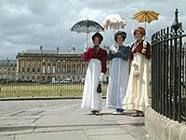 Jane Austen Festival (woodcutter - looks like we already have the right outfits from my nightgown collection circa 2001)