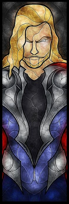 OH MY GOSH THOR AS A STAINED GLASS WINDOW!