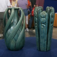 Teco pottery (a good fake) See http://www.tecopottery.info/sshow/phpslideshow.php for the real stuff