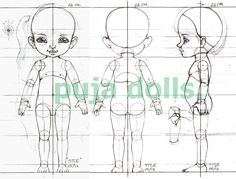 "BJD THAI ""PUJA DOLLS"": BJD workshop, Model:Kids. size 26 cm. Polymer Clay Figures, Polymer Clay Dolls, Chibi Body, Body Diagram, Doll Tutorial, Paperclay, Doll Maker, Ball Jointed Dolls, Hand Dyed Yarn"