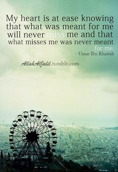 Everything in Allah's hands!