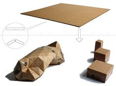 Hard-Working Mini Cardboard Design No.5 Honeycomb Cell Shape Brown Kraft Crafts Other Home Arts & Crafts Eco-friendly