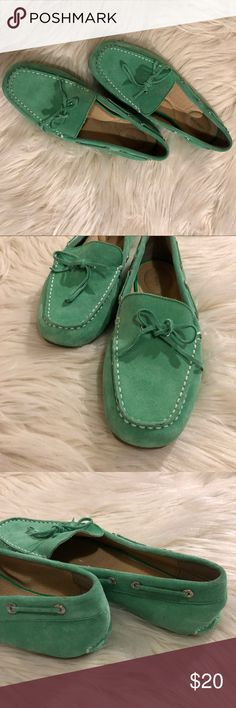 Green Lands' End flats Barely worn. New condition flats. Suede Lands' End Shoes Flats & Loafers