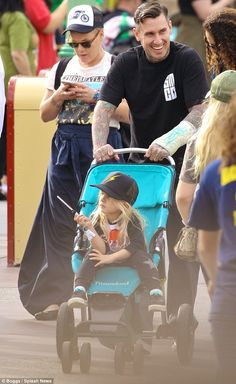 Family affair: The Just Give Me A Reason songstress was joined by husband Carey Hart, 40, ...