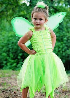 Lime Green Pixie Fairy Princess Dress for Toddlers and Girls to wear as a costume or as pretend play.  Layers of satin, organza, and tulle create a fun fairy dress for dress up play.