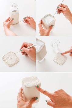 Make Your Own Clay Desk Accessories With Rubber Stamps | Brit + Co