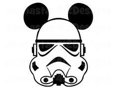 Stormtrooper Mickey With Black Ears DIY Printable Iron On Transfer Digital File