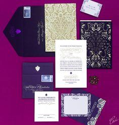 Alethia & Erik - Wedding Invitations - Ornate - Ceci Couture - Ceci Wedding - Ceci New York