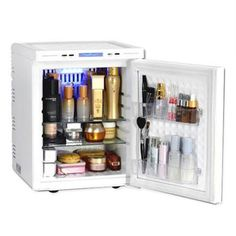 [MISHELL] Cosmetic Fridge AT-0152WEN Shiny White Makeup Refrigerator Cooler 25L