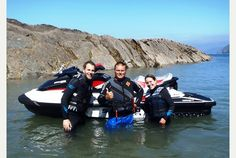 """DAYS OUT: Jet ski safari along the North Devon coast.   """"I'm smashing along the surface of the glistening Bristol channel at 45mph with a thundering engine between my legs and an inane grin spanning the gap between my ears."""""""