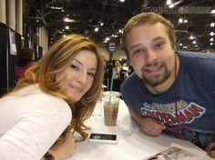 Anneliese van der Pol & fan at Comic Con