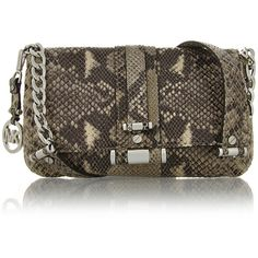 MICHAEL KORS Gibson Snake Leather Shoulder Bag ($270) ❤ liked on Polyvore,CHEAP DISCOUNT MICHAEL KORS BAGS ON SALE