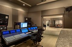 """Control Room A at the """"Wire Road Studios"""" located in Houston, Texas."""