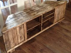 Rustic Corner TV Stand by WoodWorxbyBoz on Etsy