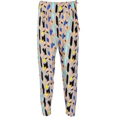 Tucker Printed silk harem pants would look cute with the top shop sweater