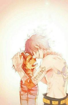 Ace, Luffy, brothers, sad, crying, bandages, ghost, spirit; One Piece