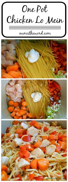 If you love Lo Mein, then you'll love this one pot, 30 minute, chicken Lo Mein. Quick, easy and oh so good! You probably have all the ingredients on hand!