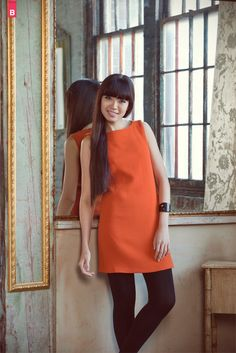 View details for the project Vintage Modern Jamie Shift Dress on BurdaStyle.