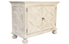 "Comles Sideboard in  White Weathered Finish44"" X 20"" X 33"" H Color: White Weathered Wood: Mahogany  Return Policy: This item is not  eligible for returns or exchanges so please make sure to look over the pictures and ask questions before purchasing this beautiful piece."