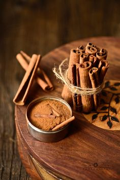 Aromatic spices roasted to release the essential oils to make a spice blend - vangibhat powder. Dark Food Photography, Cinnamon Spice, Spices And Herbs, Spice Blends, Foodblogger, Spice Things Up, Indian Food Recipes, Food Art, Food And Drink