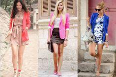 Stylish Look Wearing Bright Pink Blazer Chic Outfits, Fashion Outfits, Fall Fashion, Fashion Ideas, Hot Pink Blazers, Pink Leopard Print, Leopard Skirt, Cheetah, Pink Jacket