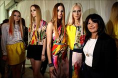 A proud Lisa Ho with her models from MBFWA. Photo: Stephen Cooper