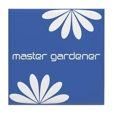 Cute Master Gardener Tile Coaster #master-gardener $10.99