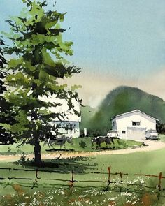 Kazuo Kasai (@kazuo_kasai_watercolor) в Instagram: «in Sapporo #kazuokasai #watercolor #painting #naganuma #hokkaido #japan #yubari #horse #ranch…»