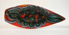 Poole Pottery Delphis spear dish 1970's