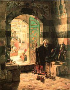 Cami ve Harem-Ludwig Deutsch Empire Ottoman, Illustrator, Arabian Art, Islamic Paintings, Old Egypt, Arabian Nights, Renoir, Ancient Art, Islamic Art