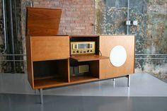 retro vintage modern hi-fi: Mid Century Modern Fisher Mono Console