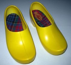 Vintage Jollys Women's Clogs Closed Heel size 39 8.5 W. Germany Synthetic Yellow