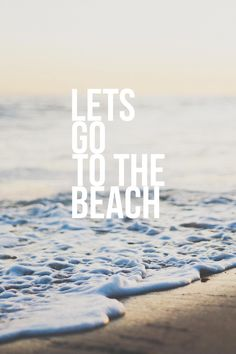 Let's go to the beach! It's beach time! Sunset Beach, Ocean Beach, Beach Bum, Ocean Girl, Summer Vibes, Foto Top, Beach Quotes, Ocean Quotes, I Love The Beach